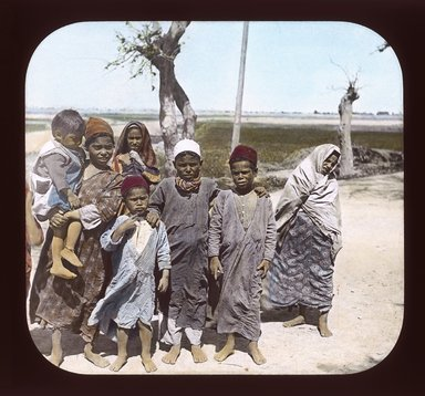 "<em>""Views, Objects: Egypt. General Views; People. View 025: Egypt - Egyptian Children, Ramleh.""</em>. Lantern slide 3.25x4in, 3.25 x 4 in. Brooklyn Museum, lantern slides. (Photo: T. H. McAllister, New York, S10_08_Egypt_GeneralViews_People025_SL1.jpg"