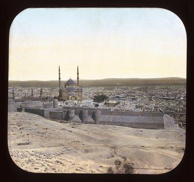 "<em>""Views, Objects: Egypt. General Views; People. View 038: Egypt - Cairo from Mokattam Hills.""</em>. Lantern slide 3.25x4in, 3.25 x 4 in. Brooklyn Museum, lantern slides. (Photo: T. H. McAllister, New York, S10_08_Egypt_GeneralViews_People038_SL1.jpg"
