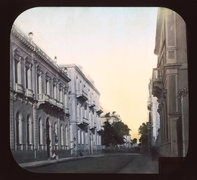 "<em>""Views, Objects: Egypt. General Views; People. View 060: Egypt - European and American quarter, Alexandria.""</em>. Lantern slide 3.25x4in, 3.25 x 4 in. Brooklyn Museum, lantern slides. (Photo: T. H. McAllister, New York, S10_08_Egypt_GeneralViews_People060_SL1.jpg"
