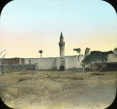 "<em>""Views, Objects: Egypt. General Views; People. View 063: Egypt - Mosque of Amr, Old Cairo, 641 AD.""</em>. Lantern slide 3.25x4in, 3.25 x 4 in. Brooklyn Museum, lantern slides. (Photo: T. H. McAllister, New York, S10_08_Egypt_GeneralViews_People063.jpg"