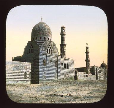 "<em>""Views, Objects: Egypt. General Views; People. View 065: Egyptian - Tomb of Caliphs.""</em>. Lantern slide 3.25x4in, 3.25 x 4 in. Brooklyn Museum, lantern slides. (S10_08_Egypt_GeneralViews_People065_SL1.jpg"