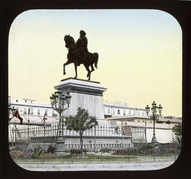 "<em>""Views, Objects: Egypt. General Views; People. View 067: Egypt - Statue of Mohammed Ali, Alexandria.""</em>. Lantern slide 3.25x4in, 3.25 x 4 in. Brooklyn Museum, lantern slides. (Photo: T. H. McAllister, New York, S10_08_Egypt_GeneralViews_People067_SL1.jpg"