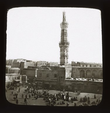 "<em>""Views, Objects: Egypt. General Views; People. View 069: Mosquee d'Ibrahim, Pacha, Alexandrie.""</em>. Lantern slide 3.25x4in, 3.25 x 4 in. Brooklyn Museum, lantern slides. (S10_08_Egypt_GeneralViews_People069_SL1.jpg"