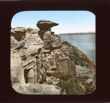 "<em>""Views, Objects: Egypt. General Views; People. View 072: Hagar el-Silsileh, Egypt. Babustis.""</em>. Lantern slide 3.25x4in, 3.25 x 4 in. Brooklyn Museum, lantern slides. (S10_08_Egypt_GeneralViews_People072_SL1.jpg"