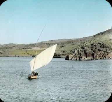 "<em>""Views, Objects: Egypt. General Views; People. View 077: On the Nile above Assuan, Egypt.""</em>, 1908. Lantern slide 3.25x4in, 3.25 x 4 in. Brooklyn Museum, lantern slides. (Photo: Stereo-Travel Co., Corona, New York, S10_08_Egypt_GeneralViews_People077.jpg"