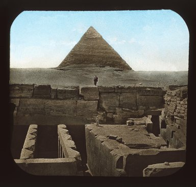 "<em>""Views, Objects: Egypt. Gizeh. View 03: Institute. Egypt.""</em>. Lantern slide 3.25x4in, 3.25 x 4 in. Brooklyn Museum, lantern slides. (S10_08_Egypt_Gizeh03_SL1.jpg"