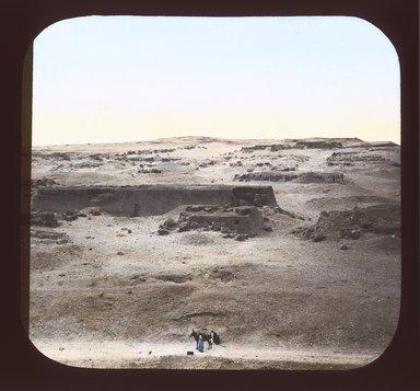 "<em>""Views, Objects: Egypt. Gizeh. View 07: Egyptian - Old Kingdom. Plan of Temple of Khephren. Gizeh, 4th Dyn.""</em>. Lantern slide 3.25x4in, 3.25 x 4 in. Brooklyn Museum, lantern slides. (S10_08_Egypt_Gizeh07_SL1.jpg"