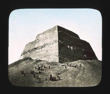 "<em>""Views, Objects: Egypt. Gizeh. View 10: Egyptian - Old Kingdom. Temple of Khephren. Gizeh, 4th Dyn.""</em>. Lantern slide 3.25x4in, 3.25 x 4 in. Brooklyn Museum, lantern slides. (S10_08_Egypt_Gizeh10_SL1.jpg"