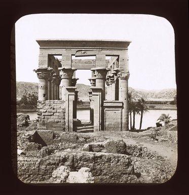 "<em>""Views, Objects: Egypt. Philae. View 13: Egypt - Philae. Temple of Isis.""</em>. Lantern slide 3.25x4in, 3.25 x 4 in. Brooklyn Museum, lantern slides. (Photo: J. Levy & Cie, Paris, S10_08_Egypt_Philae13_SL1.jpg"