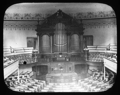 "<em>""Views: Brooklyn, Long Island, Staten Island. Assorted churches. View 001: Organ of Plymouth Church.""</em>, 1898. Lantern slide 3.25x4in, 3.25 x 4 in. Brooklyn Museum, CHART_2011. (S10_11_Brooklyn_LI_SI_Assorted_Churches001.jpg"