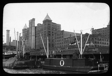 "<em>""Views: Brooklyn, Long Island, Staten Island. Brooklyn scenes; buildings. View 046: Havemeyer Sugar Refinery.""</em>. Lantern slide 3.25x4in, 3.25 x 4 in. Brooklyn Museum, CHART_2011. (Photo: D.L. Parker, S10_11_Brooklyn_LI_SI_Brooklyn_Scenes_Buildings046.jpg"