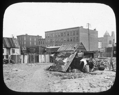 """<em>""""Views: Brooklyn. Various. View 022: Red Hook.""""</em>. Lantern slide 3.25x4in, 3.25 x 4 in. Brooklyn Museum, CHART_2011. (Photo: Julius Wilcox, S10_12_Brooklyn_Various022.jpg"""