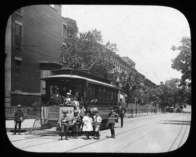 "<em>""Views: U.S., Brooklyn. Brooklyn, Adelphi College. View 001: Special Car for the Adelphi Academy.""</em>, 1900. Lantern slide 3.25x4in, 3.25 x 4 in. Brooklyn Museum, CHART_2011. (S10_21_US_Brooklyn_Brooklyn_Adelphi_College001.jpg"