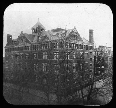 "<em>""Views: U.S., Brooklyn. Brooklyn, Adelphi College. View 002: Adelphi Buildings.""</em>, 1899. Lantern slide 3.25x4in, 3.25 x 4 in. Brooklyn Museum, CHART_2011. (Photo: W.C. Peckhause, S10_21_US_Brooklyn_Brooklyn_Adelphi_College002.jpg"