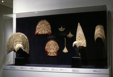 Curator's Choice: Pearls Among the Gold: Russian Women's Festive Dress, February 25, 1987 through June 29, 1987 (Image: CTX_E1987i010.jpg Brooklyn Museum photograph, 1987)