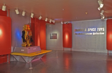 Robots and Space Toys: The Robert Lesser Collection, November 04, 2000 through January 28, 2001 (Image: DEC_E2000i034.jpg Brooklyn Museum photograph, 2000)