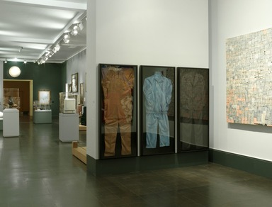 American Identities: A New Look (long-term installation) [09/12/2001 - 02/28/2016].  Installation view: The Evolution of the Negro Political Costume (2005.58a-c)