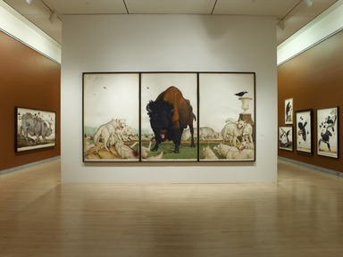 Tigers of Wrath: Watercolors by Walton Ford, November 3, 2006 through January 28, 2007 (Image: DIG_E2006_Ford_01_PS2.jpg Brooklyn Museum photograph, 2006)