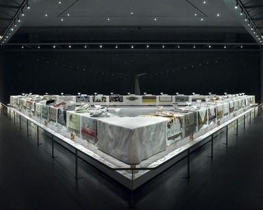 The Dinner Party by Judy Chicago (installation), March 23, 2007 through Current (Image: DIG_E2007_Dinner_Party_13_PS2.jpg Brooklyn Museum photograph, 2007)