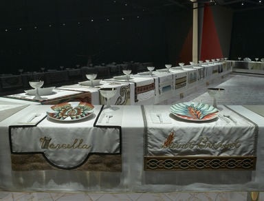 The Dinner Party by Judy Chicago (installation), March 23, 2007 through Current (Image: DIG_E2007_Dinner_Party_14_PS2.jpg Brooklyn Museum photograph, 2007)