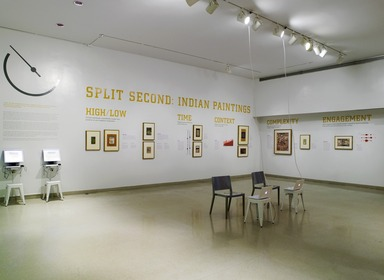 Split Second: Indian Paintings, July 13, 2011 through January 01, 2012 (Image: DIG_E_2011_Split_Second_01_PS4.jpg Brooklyn Museum photograph, 2011)