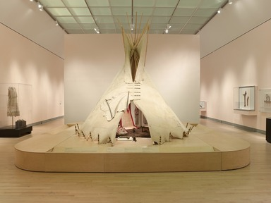 Tipi: Heritage of the Great Plains, February 18, 2011 through May 15, 2011 (Image: DIG_E_2011_Tipi_08_PS4.jpg Brooklyn Museum photograph, 2011)