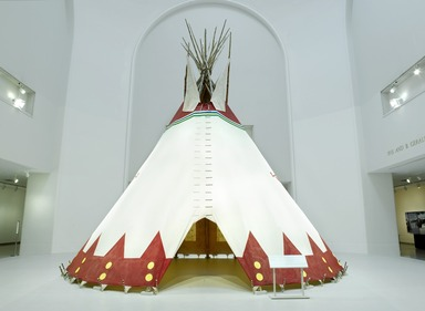 Tipi: Heritage of the Great Plains, February 18, 2011 through May 15, 2011 (Image: DIG_E_2011_Tipi_16_PS4.jpg Brooklyn Museum photograph, 2011)