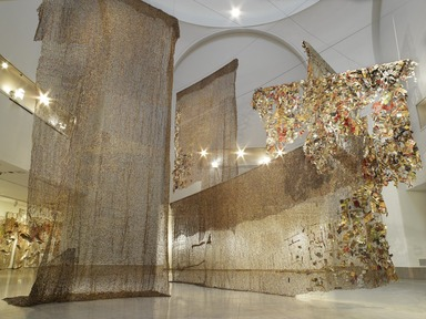 Gravity and Grace: Monumental Works by El Anatsui, February 8, 2013 through August 18, 2013 (Image: DIG_E_2013_Anatsui_Gravity_and_Grace_001_PS4.jpg Brooklyn Museum photograph, 2013)