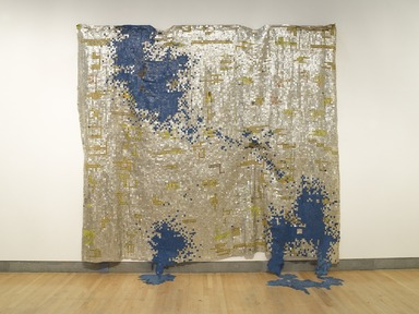 Gravity and Grace: Monumental Works by El Anatsui, February 8, 2013 through August 18, 2013 (Image: DIG_E_2013_Anatsui_Gravity_and_Grace_016_PS4.jpg Brooklyn Museum photograph, 2013)