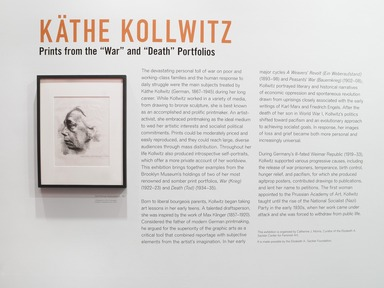 "Käthe Kollwitz: Prints from the ""War"" and ""Death"" Portfolios, March 15, 2013 through September 15, 2013 (Image: DIG_E_2013_Kathe_Kollwitz_001_PS4.jpg Brooklyn Museum photograph, 2013)"