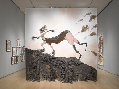 Wangechi Mutu: A Fantastic Journey, October 11, 2013 through March 09, 2014 (Image: DIG_E_2013_Wangechi_Mutu_01_PS4.jpg Brooklyn Museum photograph, 2013)