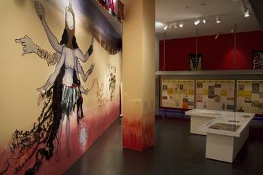 Chitra Ganesh: Eyes of Time, December 12, 2014 through July 12, 2015 (Image: DIG_E_2014_Chitra_Ganesh_Eyes_of_Time_11_PS8.jpg Brooklyn Museum photograph, 2014)
