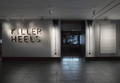 Killer Heels: The Art of the High-Heeled Shoe, September 10, 2014 through March 1, 2015 (Image: DIG_E_2014_Killer_Heels_001_PS4.jpg Brooklyn Museum photograph, 2014)