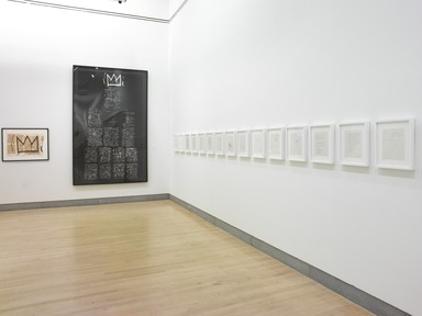 Basquiat: The Unknown Notebooks, April 3, 2015 through August 23, 2015 (Image: DIG_E_2015_Basquiat_The_Unknown_Notebooks_07_PS4.jpg Brooklyn Museum photograph, 2015)