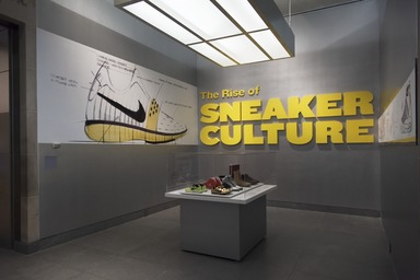 The Rise of Sneaker Culture, July 10, 2015 through October 4, 2015 (Image: DIG_E_2015_The_Rise_of_Sneaker_Culture_01_PS11.jpg Brooklyn Museum photograph, 2015)