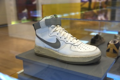 The Rise of Sneaker Culture, July 10, 2015 through October 4, 2015 (Image: DIG_E_2015_The_Rise_of_Sneaker_Culture_14_PS11.jpg Brooklyn Museum photograph, 2015)