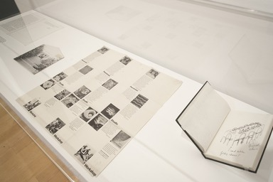 """Roots of """"The Dinner Party"""": History in the Making, October 20, 2017 through March 04, 2018 (Image: DIG_E_2017_Roots_of_the_Dinner_Party_04_PS11.jpg Brooklyn Museum photograph, 2017)"""