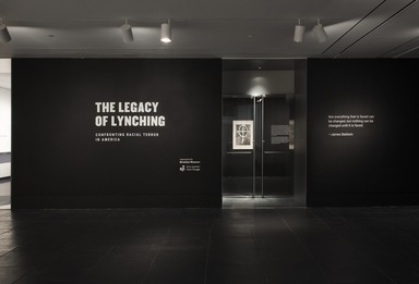 The Legacy of Lynching: Confronting Racial Terror in America, July 26, 2017 through October 8, 2017 (Image: DIG_E_2017_The_Legacy_of_Lynching_001_PS11.jpg Brooklyn Museum photograph, 2017)