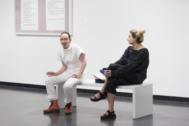 David Levine: Some of the People, All of the Time, Thursday, May 24, 2018 through Sunday, July 08, 2018 (Image: DIG_E_2018_David_Levine_performance_37_PS11.jpg Brooklyn Museum photograph, 2018)