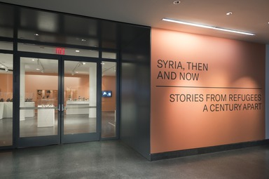 Syria, Then and Now: Stories from Refugees a Century Apart, Saturday, October 13, 2018 through Sunday, January 13, 2019 (Image: DIG_E_2018_Syria_Then_and_Now_01_PS11.jpg Brooklyn Museum. (Photo by Jonathan Dorado) photograph, 2018)
