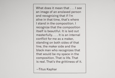Installation view, One: Titus Kaphar. Brooklyn Museum, June 21, 2019 - October 13, 2019. (Photo: Jonathan Dorado)