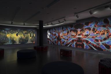 Installation view, yasiin bey: Negus, Brooklyn Museum, November 15, 2019 - January 26, 2020. (Photo: Jonathan Dorado)