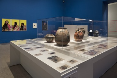 Installation view, Jeffrey Gibson: When Fire Is Applied to a Stone It Cracks, Brooklyn Museum, February 14, 2020 - January 10, 2021