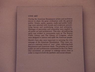 The American Renaissance: 1876-1917. [10/13/1979 - 12/30/1979]. Installation view.