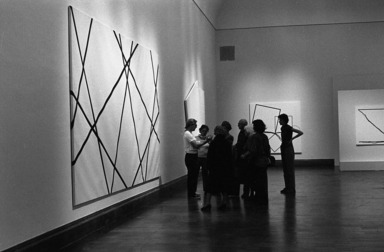 François Morellet: Systems, January 17, 1985 through March 17, 1985 (Image: EDU_E1985i002.jpg Brooklyn Museum photograph, 1985)