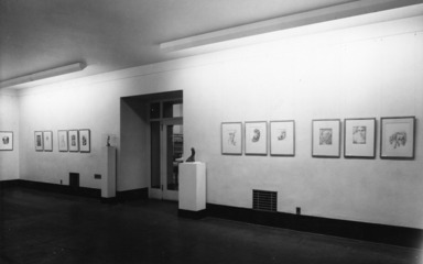 Drawings and Sculpture by Lajos d'Ebneth, December 17, 1947 through January 25, 1948 (Image: PDP_E1947i001.jpg Brooklyn Museum photograph, 1947)