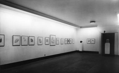Drawings and Sculpture by Lajos d'Ebneth, December 17, 1947 through January 25, 1948 (Image: PDP_E1947i002.jpg Brooklyn Museum photograph, 1947)