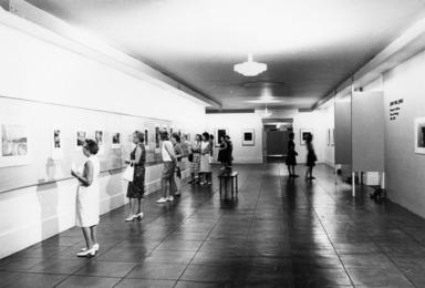 John Paul Jones Retrospective. [06/04/1963 - 08/10/1963]. Installation view: entrance. 'Prints and Drawings 1948-1963.'