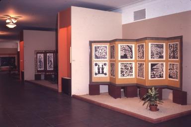 Woodcut Screens of Shiko Munakata, January 09, 1968 through February 18, 1968 (Image: PDP_E1968i030.jpg Brooklyn Museum photograph, 1968)