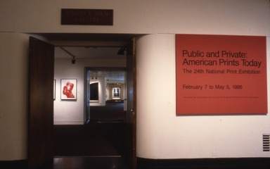 National Print Exhibition, 24th Biennial: Public and Private: American Prints Today, February 7, 1986 through May 5, 1986 (Image: PDP_E1986i008.jpg Brooklyn Museum photograph, 1986)